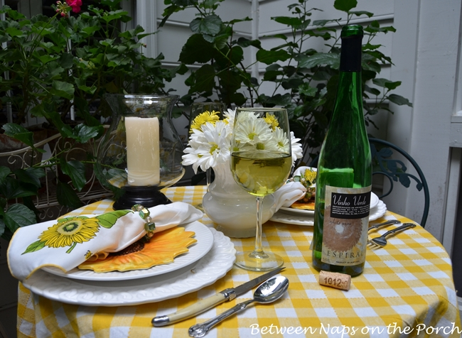 Summer Tablescape For Two