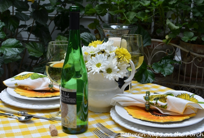 Sunny Yellow Tablescape for Two