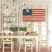 Pottery Barn Wood Flag
