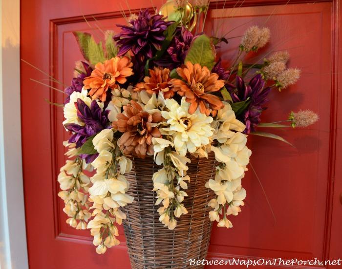 Autumn Basket For The Front Door 8