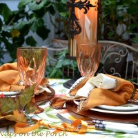 Russet Shades of Autumn: A Table for Two on the Deck