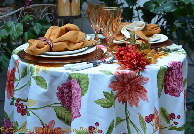 Autumn Tablescape (Between Naps on the Porch)