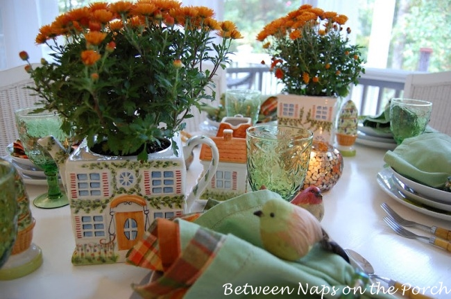 Autumn Tablescapes at http://betweennapsontheporch.net