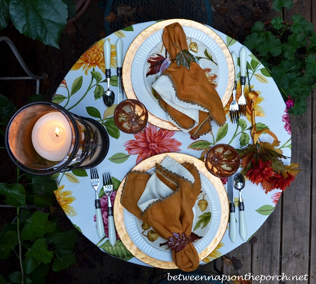Cozy Fall Table Setting for Two