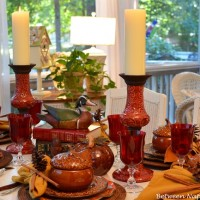 Fall Dining on the Porch & A Book-Themed Centerpiece