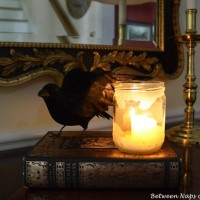 Make a Frosted Candlelit Lantern for Halloween
