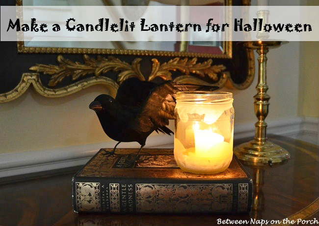 Make a Frosted Halloween Lantern
