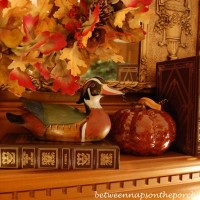 Warming Up With a Fall Mantel