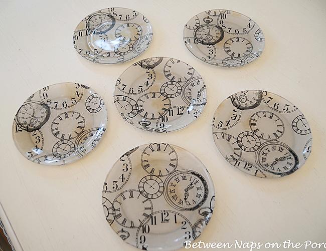 Pottery Barn Clock Plates Knock-off Tutorial
