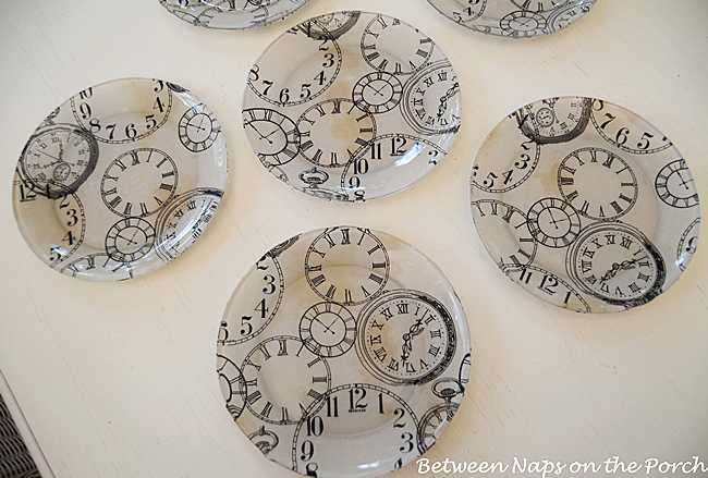 Pottery Barn Clock Plates Knock-off Tutorial