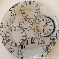 Pottery Barn Clock Plates, Make Your Own