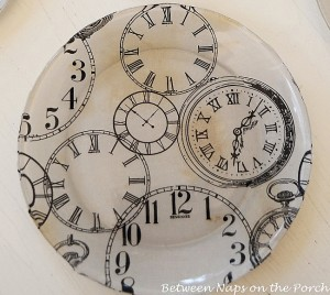 Pottery Barn Clock Plates Knock-off
