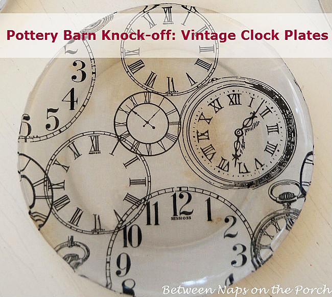 Pottery Barn Clock Plates Knock Off