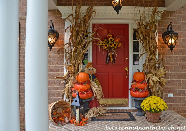 Make Pumpkin Topiaries For An Autumn Porch Between Naps On The Porch