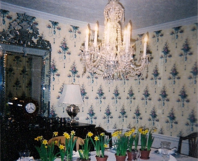 Before Dining Room with Wallpaper
