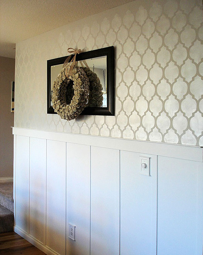 Stencil Your Room Beautiful Eye Candy and a Wonderful