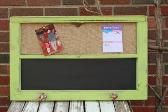 Chalkboard Bulletin Board Made from an Old Window