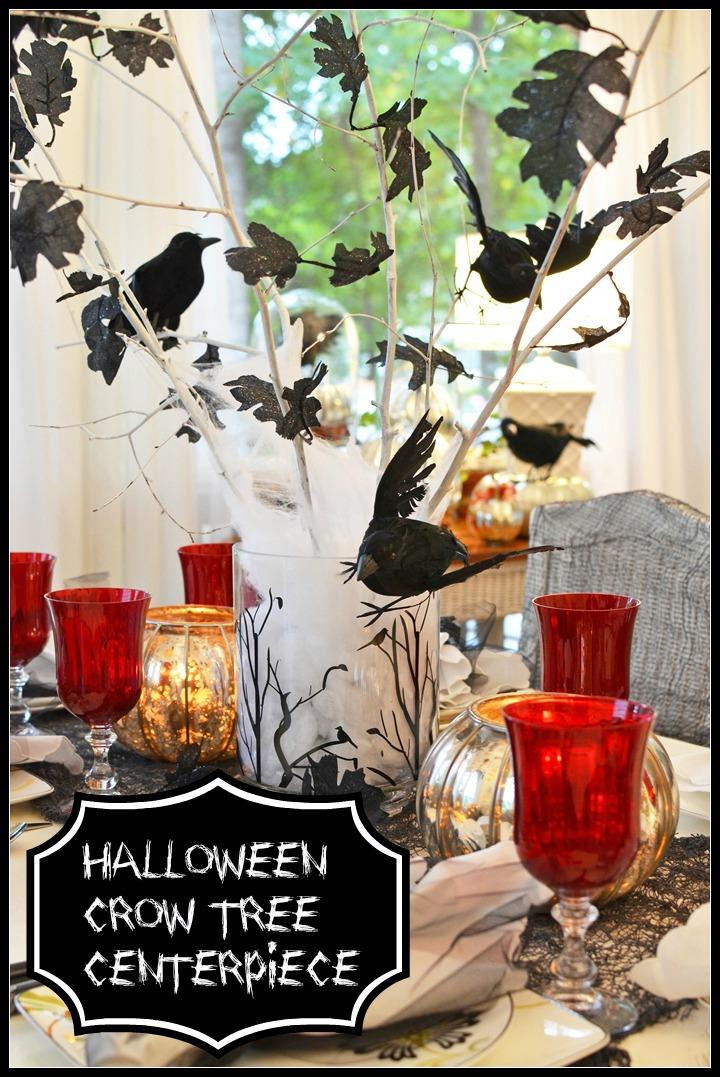 Crow Tree Centerpiece for Halloween Decorations
