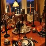 Elegant & Eerie Halloween Tablescape