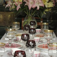 Beautiful Table Setting with Villeroy & Boch, Manoir and Paseo Gien