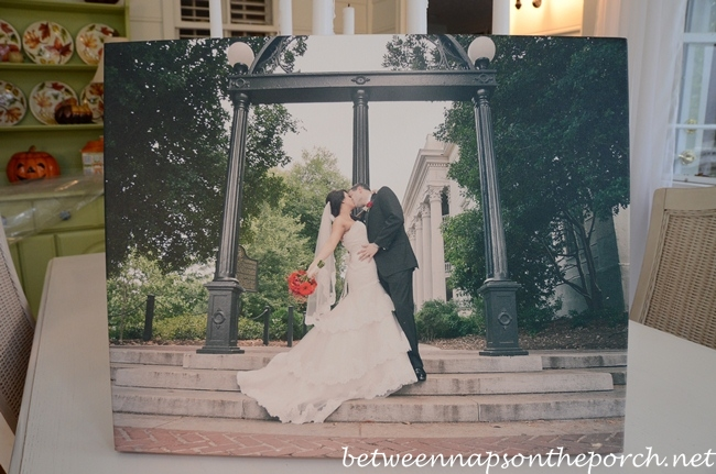 Wedding Photo Under the University of Georgia Arch