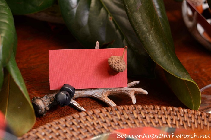 Antler Placecard Holder for Table Setting