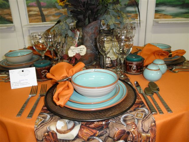 Autumn Tablescape, 1st Place at the County Fair