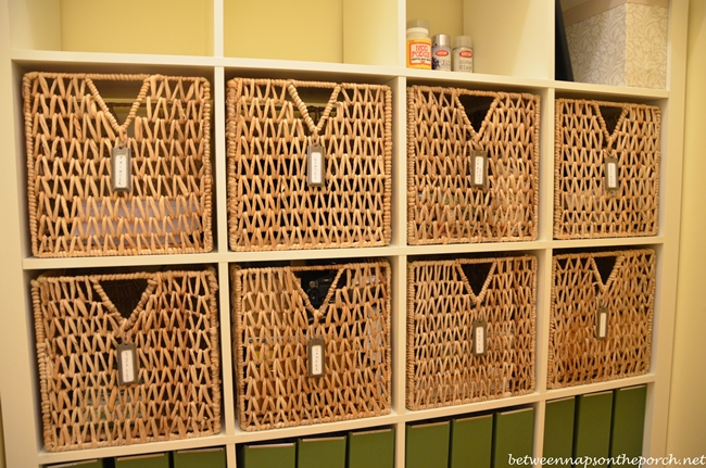 Bronze Metal Hanging Labels for Expedit Baskets
