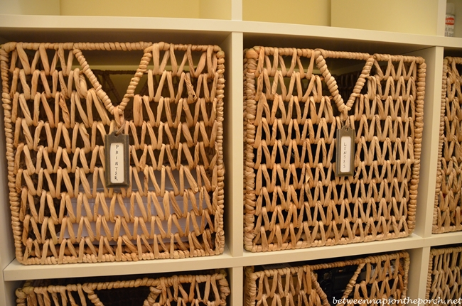 Bronze Metal Hanging Labels for Expedit Baskets