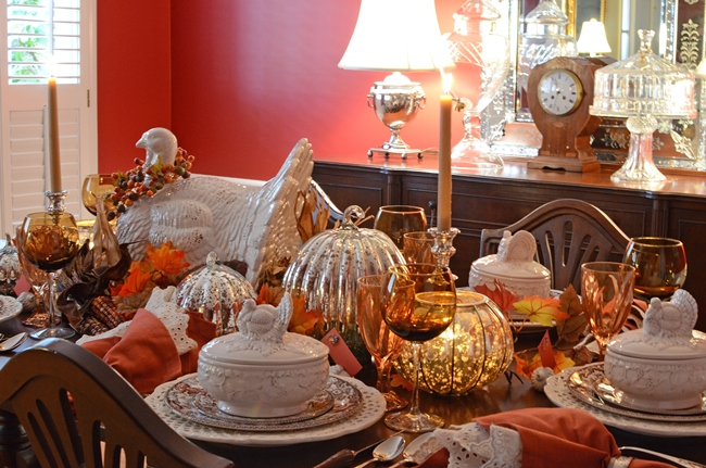 Candlelight Thanksgiving Tablescape