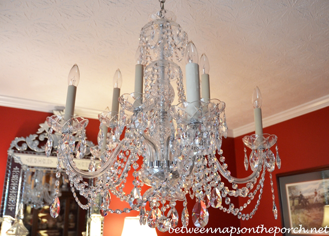 Transform an Ordinary Chandelier with Resin Candle Covers and Silk – Chandelier Candle Sleeves