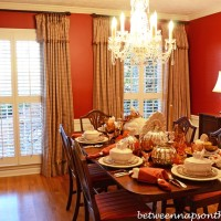 Dining Room Addition:  French-Pleated Check Draperies