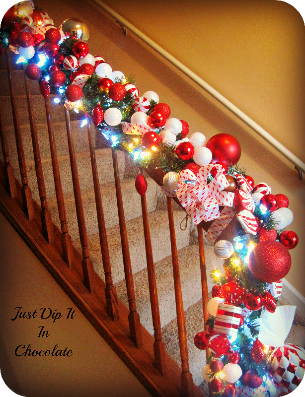 christmas banister decorations - Banister Christmas Decorations