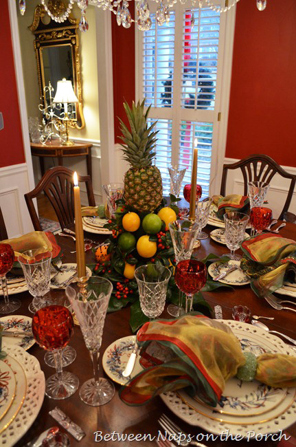 Christmas-Tablescape-with-Colonial-Williamsburg-Apple-Tree-Centerpiece