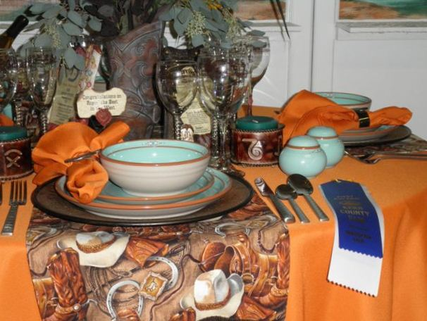 Fall Tablescape, 1st Place at the Fair
