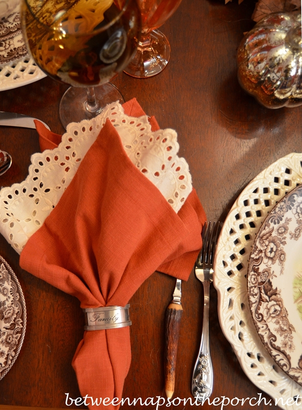 Thanksgiving Tablescape with Pottery Barn Rustic Turkey Centerpiece and Turkey Tureens