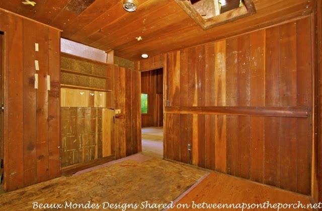 Cabin Bedroom Before Renovation