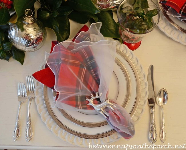 Christmas Tablescape with Noritake Crestwood Platinum
