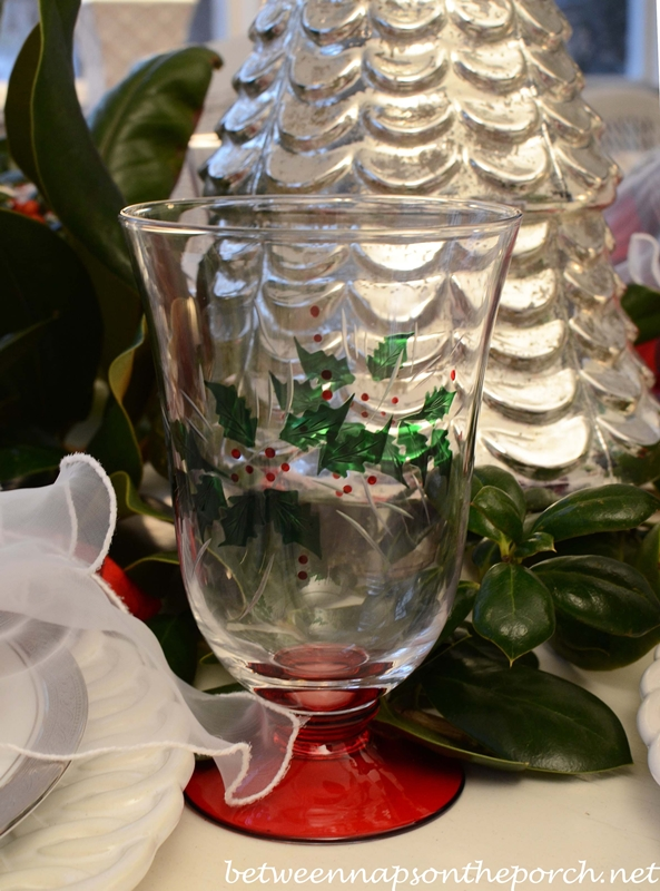 Christmas Tablescape with Mercury-Glass Christmas Trees and Deer Head Centerpiece