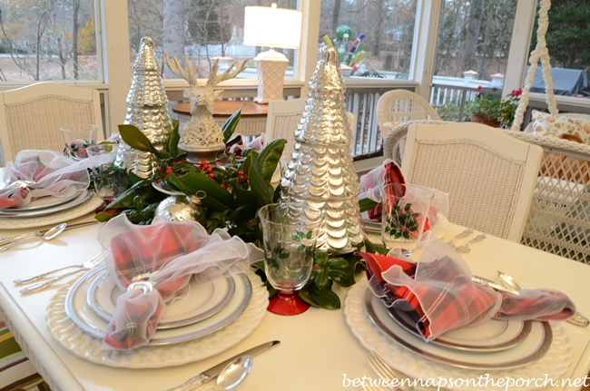 Christmas Tablescape with Noritake Platinum Dishware