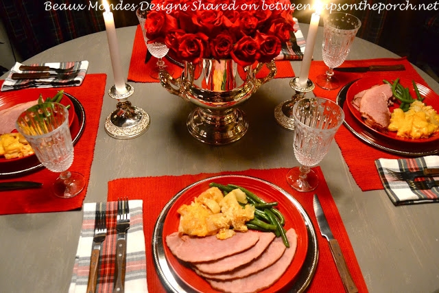 Christmas Tablescape in Russian River Dacha Cabin