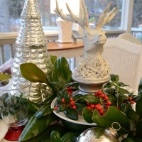 A Christmas Tablescape on the Porch