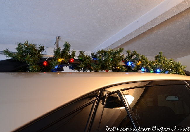 Decorate Car for Christmas with Garland and Lights
