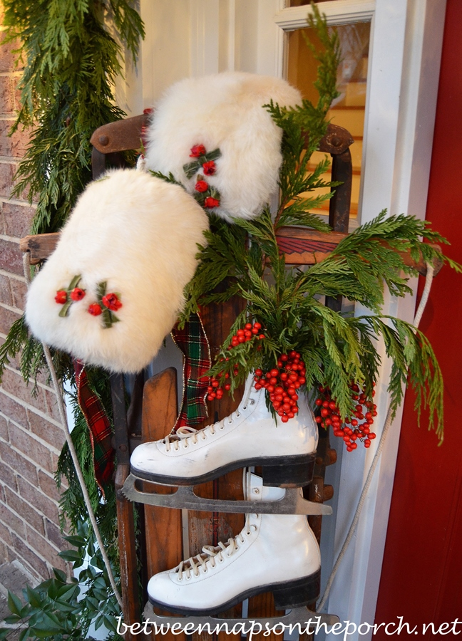 decorate with ice skates for christmas - Ice Skate Christmas Decoration