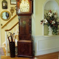 Entry with Shell Niche and Grandfather Clock