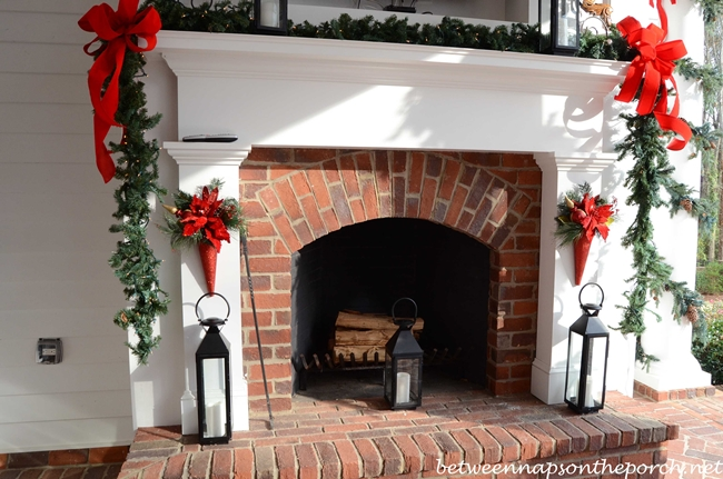 Fireplace on Veranda