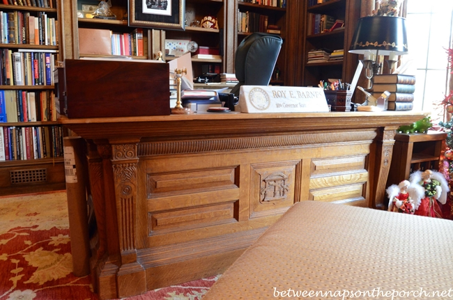 Governor Roy Barnes' Desk with State Seal Carved in Front