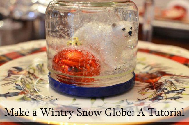 Make a Wintry Snow Globe