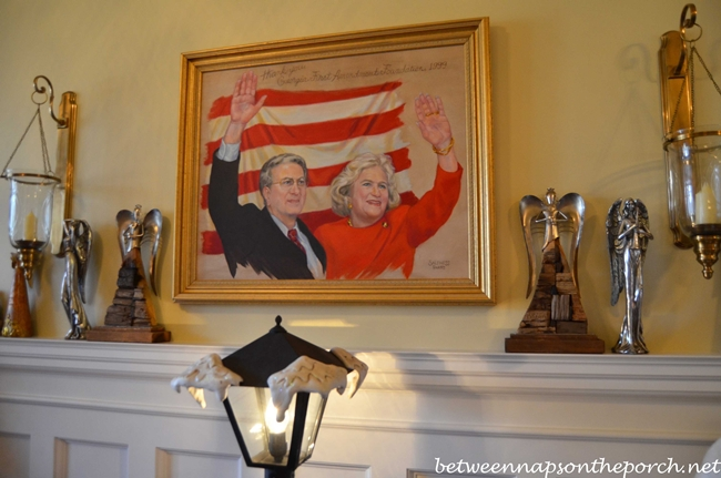 Painting of Governor and Marie Barnes the Day After Election