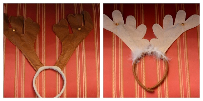 Antler Head Pieces for Christmas from the dollar Store